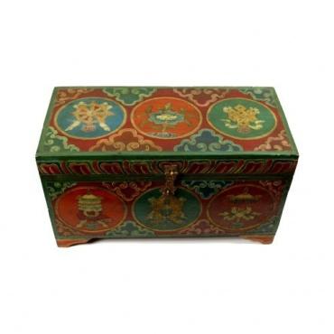 Coffre Porte-bonheur Tibétain bouddhiste