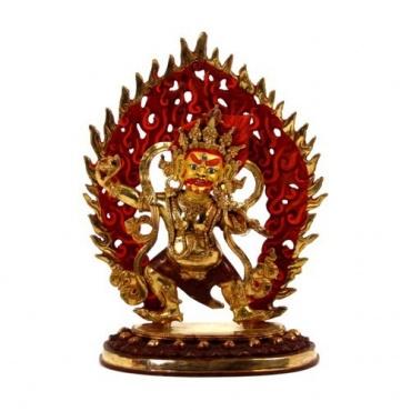 Statue de Vajrapani en or