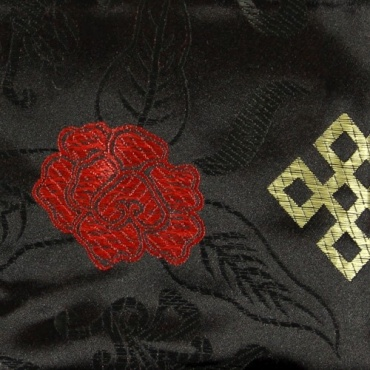 Pochette Etui Noir Soie Tibétaine S