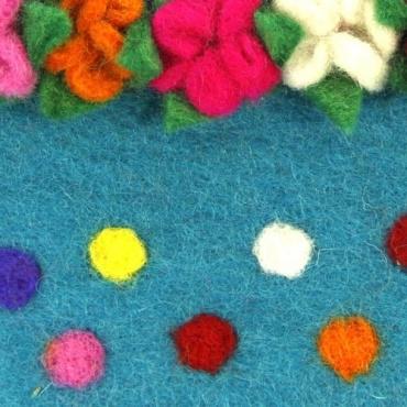 Pochette Pot de fleurs turquoise