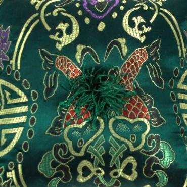 Coussin bol tibet vert