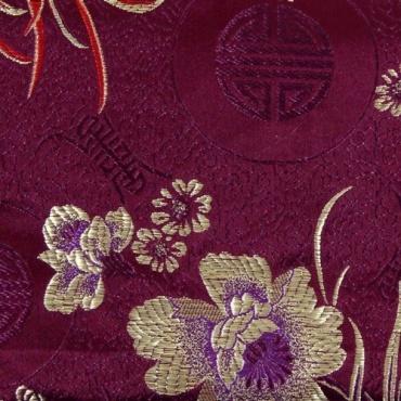 Pochette Etui Prune Soie Tibétaine S