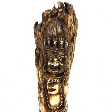 Statue de Mahakala en os creusé