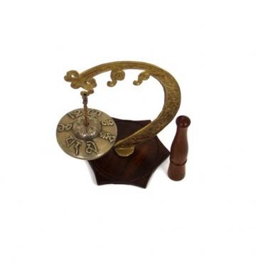 Cymbale Tibétaine Ting-sha sur socle