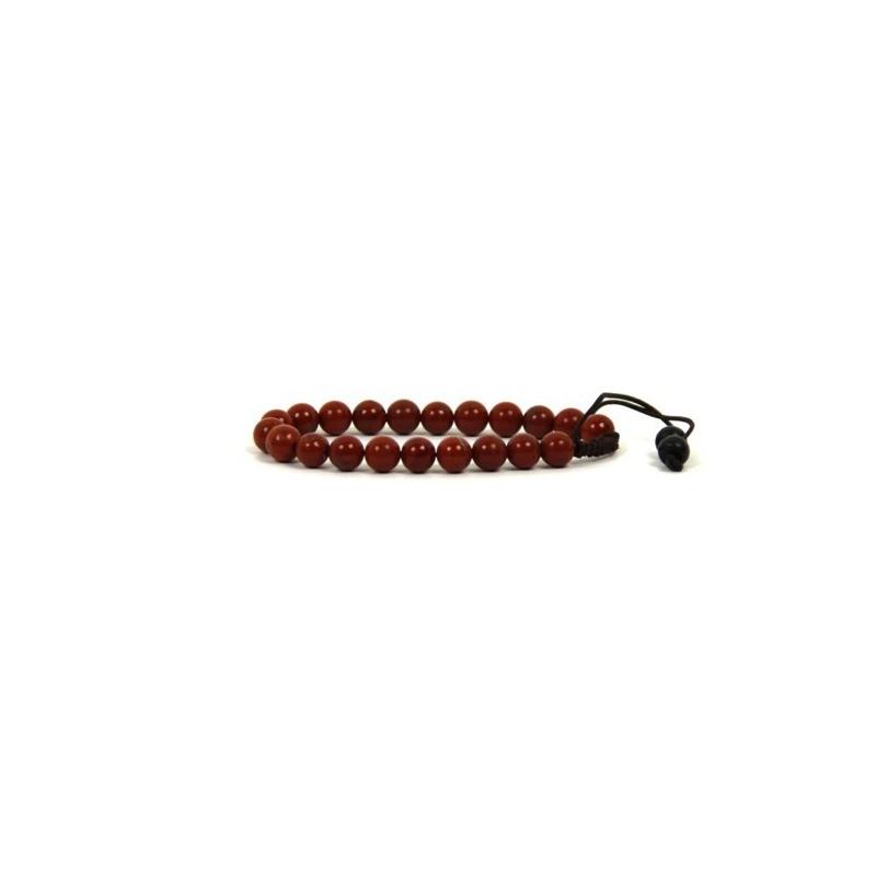 Bracelet mala en pierre de jaspe rouge