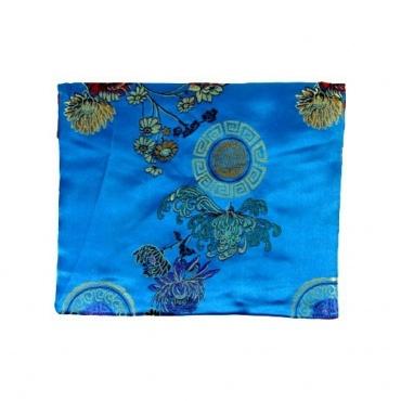 Pochette en Soie Tibétaine turquoise S à A4