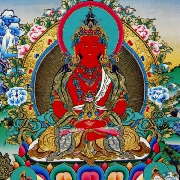 Carte - Image Amitayus  Bouddha Longue Vie