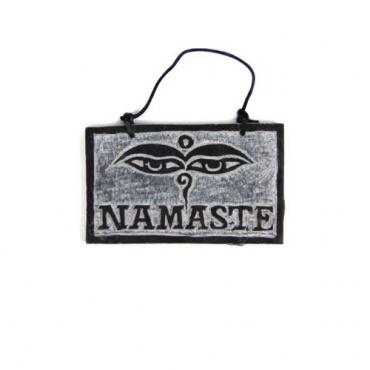Pierre Namaste Bienvenue - Yeux de Bouddha