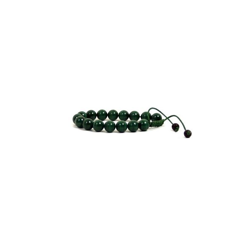 Bracelet mala en Malachite véritable
