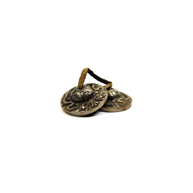 Cymbales Tibétaines Ting-sha Dragon bronze