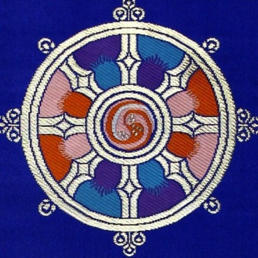 Vide Poche mural Roue du Dharma