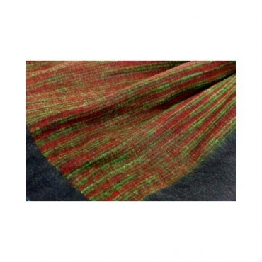 Couverture noire lignée verte et rouge chaude