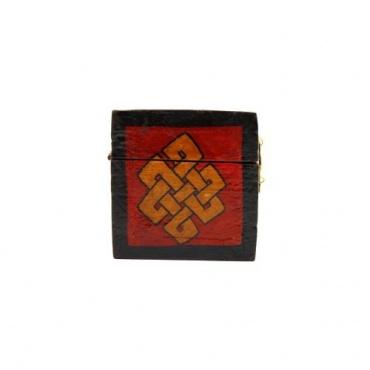 Boîte à bijoux coffret tibétain noeud sans fin