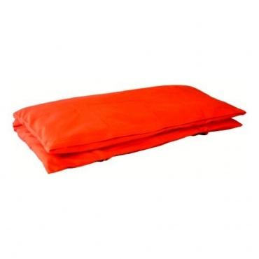 Coussin de méditation carré orange séchée