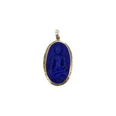 Pendentif en Lapis Lazuli du Bouddha de Médecine