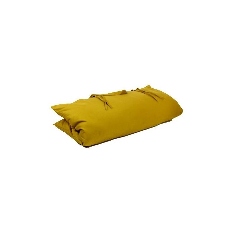 Coussin de méditation carré moutarde