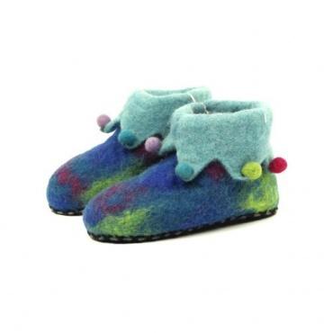 Pantoufles pour enfants en laine bouillie taille 26