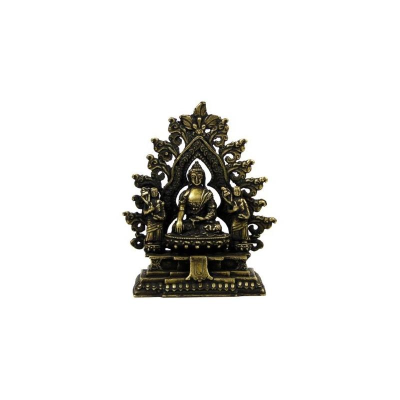 Statue de Bouddha entouré de ses 2 premiers disciples