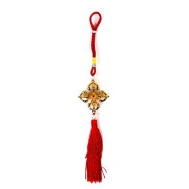 Vajra croisé à suspendre et couleur rouge bonheur et chance