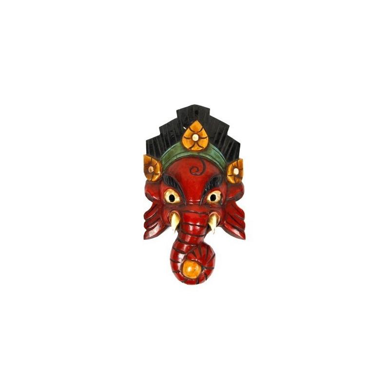 Petit Masque de Ganesh l'éléphant rouge