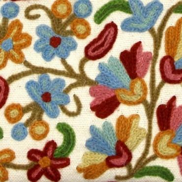 Pochette Petit sac multipoche en coton brodé