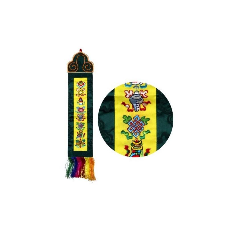 Broderie porte-bonheur signe auspicieux bouddhistes tibétains