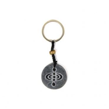 Porte-clés symbole de l'Instant Présent en pierre de l'Himalaya