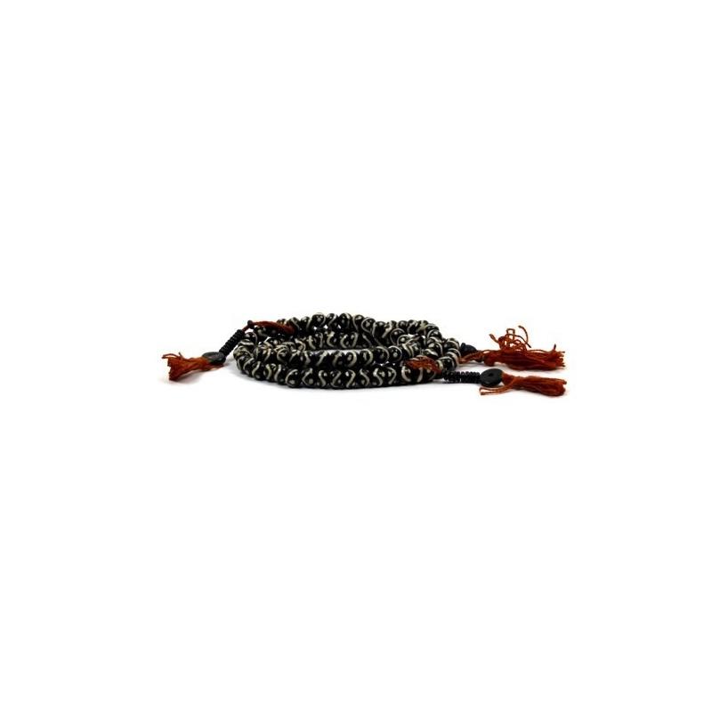 Collier mala bouddhiste de 108 perles et compteurs