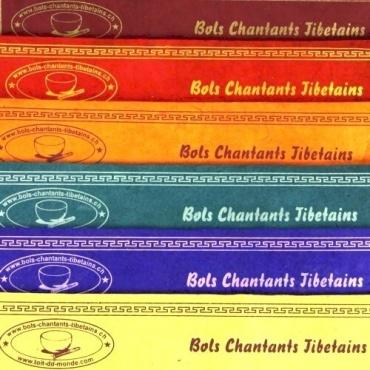 Encens myrrhe santal musc Bols Chantants Tibétains - 7 senteurs