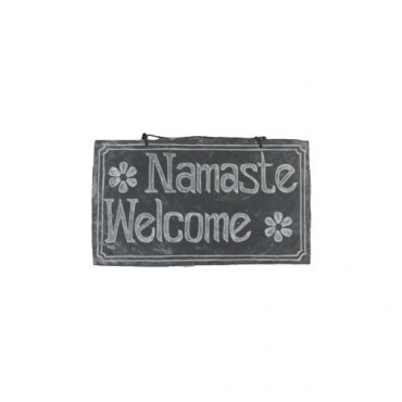 Pierre Himalayenne gravée Namaste Welcome