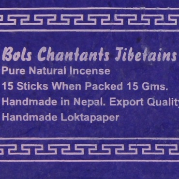 Encens Musc Bols Chantants Tibétains - bleu-violet