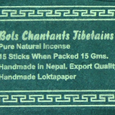 Encens Myrrhe Bols Chantants Tibétains - vert