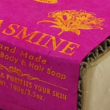 Savon Fleur de jasmin pour peau et cheveux