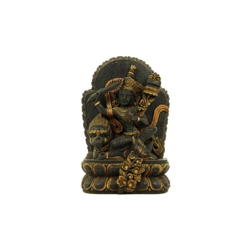 Statue de Manjushree  assis sur un Lion