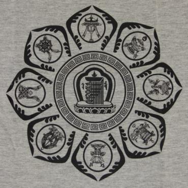 Tee-shirt Gris lotus et porte-bonheur Taille 38 à 48