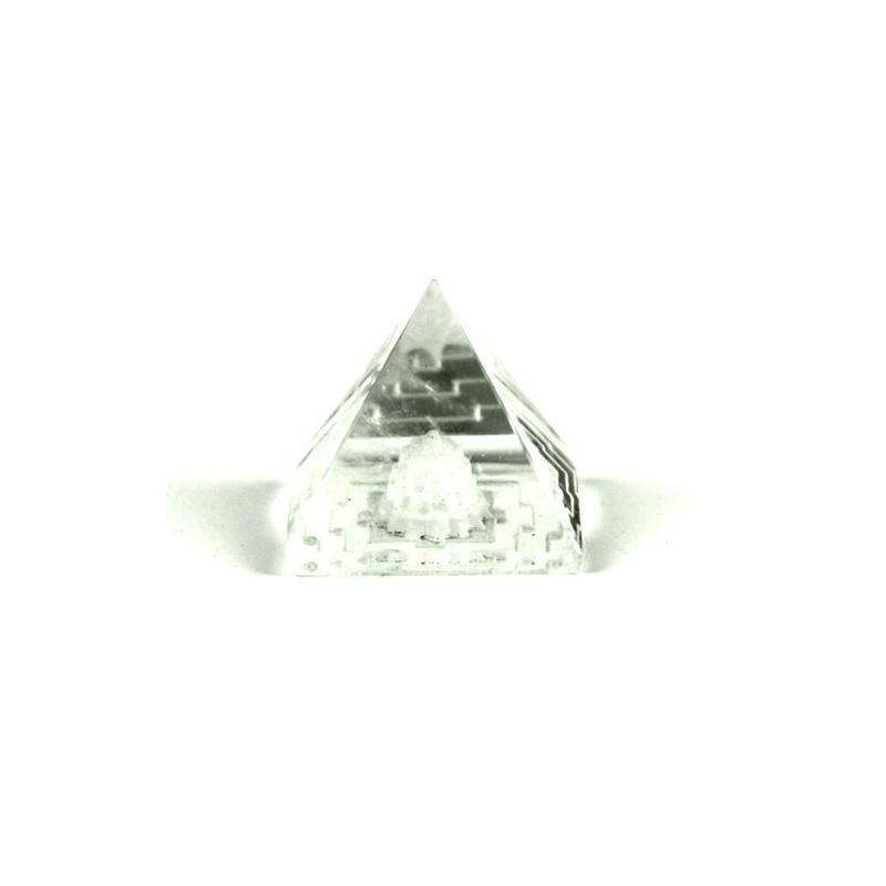 Pyramide stupa en cristal - 1