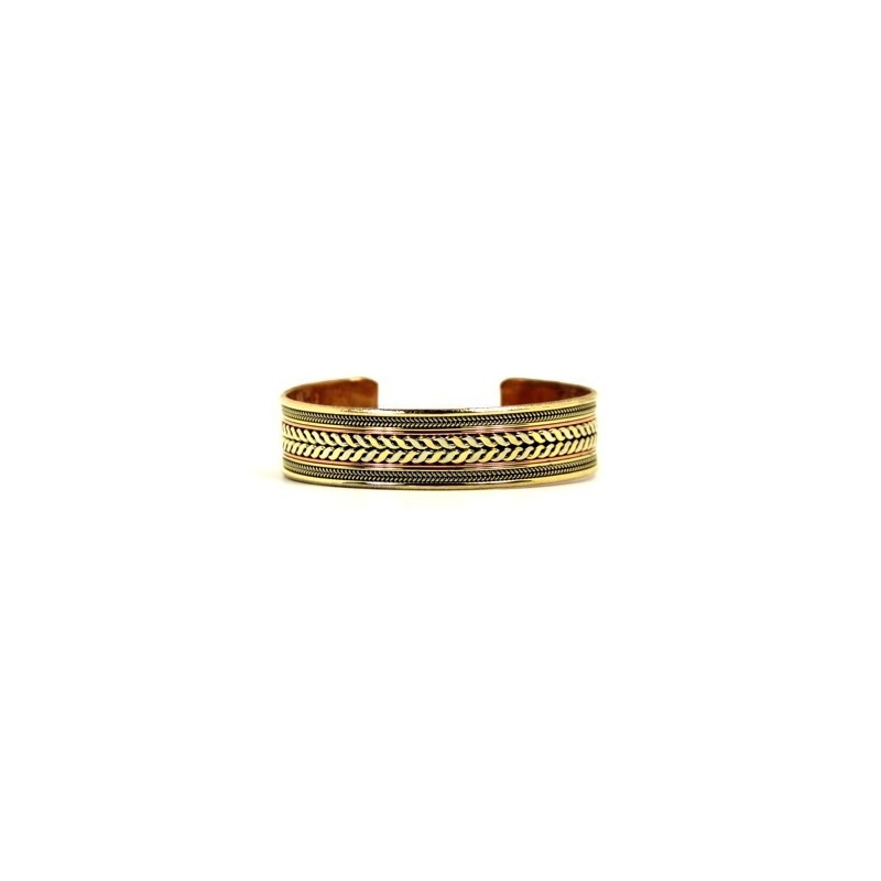 Bracelet en cuivre décoré de torsades