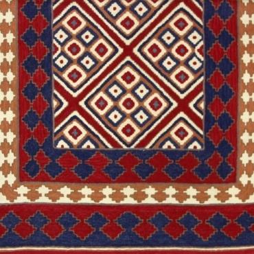 Tapis brodé Népal original et lumineux 120 x 180cm