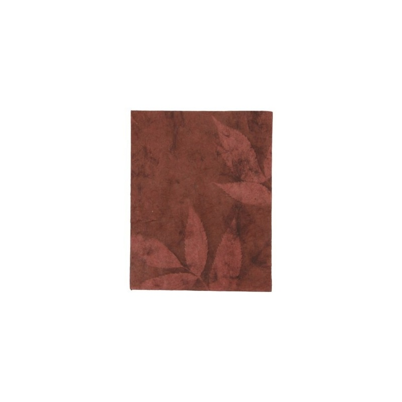 Carnet de note en papier lokta himalayen lie de vin