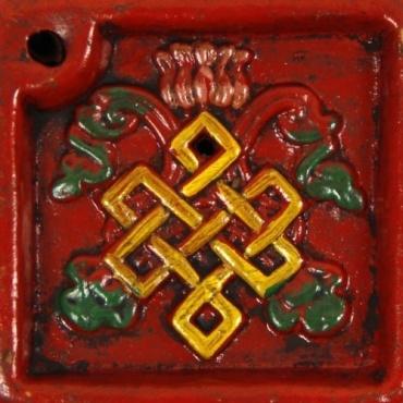 Porte-encens Brûle encens coloré et noeud sans fin