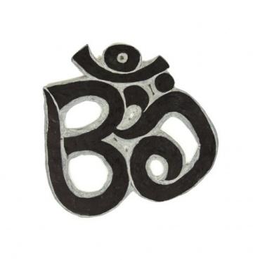 Om découpé dans la pierre Himalayenne - Mani