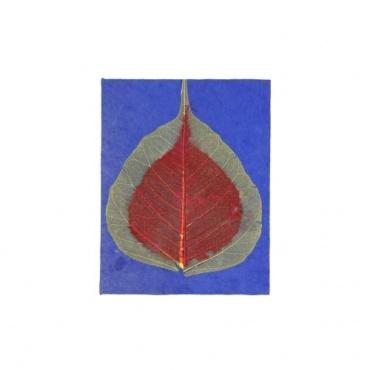 Carnet en Papier Lokta decore feuille de bodhi