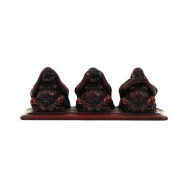 Statuette de 3 bouddhas rieurs Dire - Voir -  Entendre