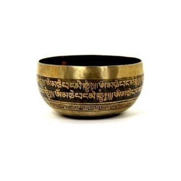 Bol chantant tibétain gravé 2ème chakra noeud sans fin