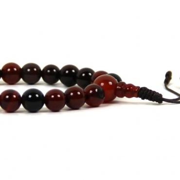Bracelet mala en pierre Agate de Feu rouge
