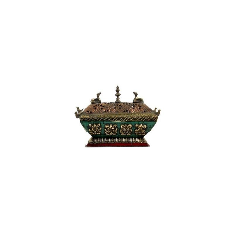 Porte Encens Brûle encens Auspicieux Tibétain