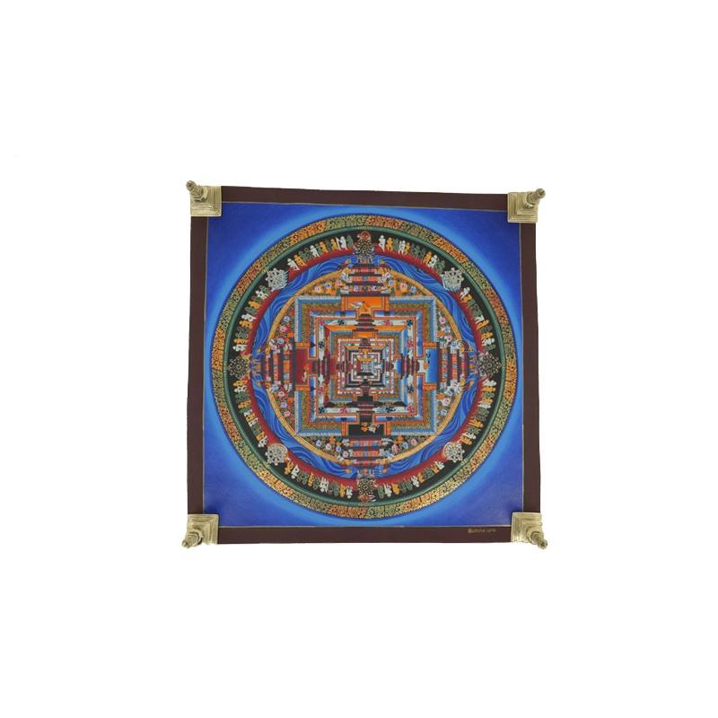 Kalachakra peinture bouddhiste tibétaine sans tissu