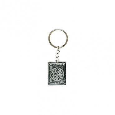 porte-clés fleur de vie en pierre himalayenne