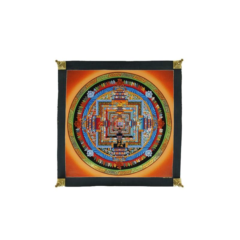 Peinture bouddhiste kalachakra mandala
