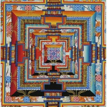 peinture mandala kalachakra bouddhiste traditionnel